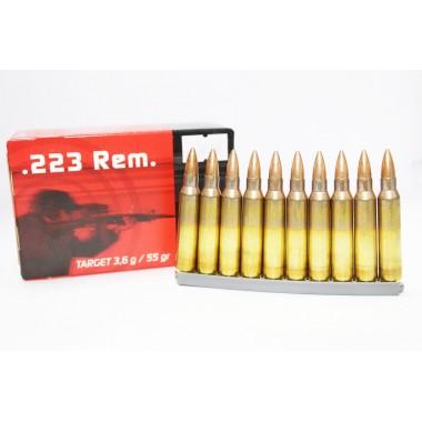 Патрон RUAG USA 223 Rem (5,56/45) FMJ, 55gr/3.56г, латунь 50шт/уп