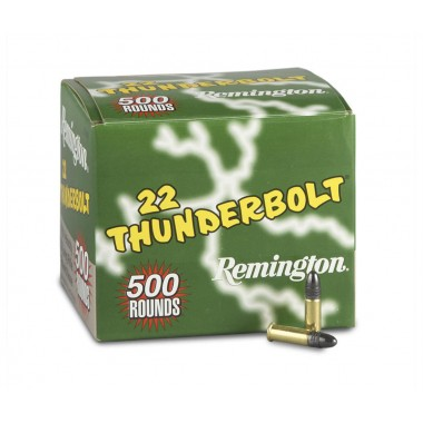 Патрон нарезной Remington Thunderbolt 22Lr High Velocity Round Nose 40gr/2.6г (500шт)