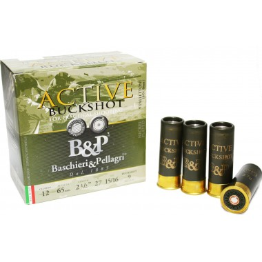 Патрон B&P 12к ACTIVE BUCKSHOT PRACTICAL SHOOTING (К) 28гр №8мм