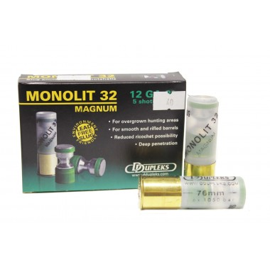 Патрон D Dupleks Monolit 32 Magnum кал. 12/76 пуля Monolit 32 г