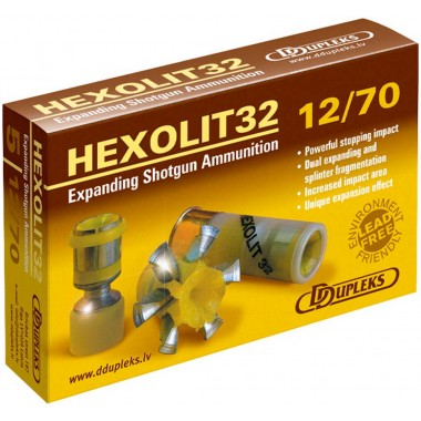 Патрон D Dupleks Hexolit 12к 12/70 пуля Hexolit 32 г
