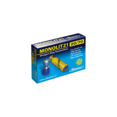 Патрон D Dupleks Monolit 21 к.20/70 пуля Monolit масса 19.5 г