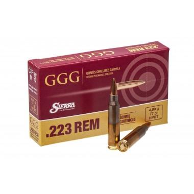 Патрон нарезной GGG 223Rem 77gr/4,99г HPBT (20шт)