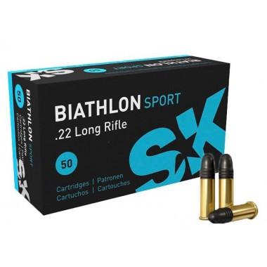 Патрон нарезной SK Biathlon Sport кал.22 LR пуля 2,59 г/ 40 гран. 337 м/с.