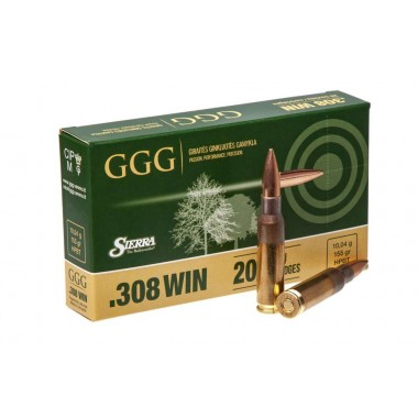 Патрон нарезной GGG 308Win 155gr/10,04г HPBT (20шт)