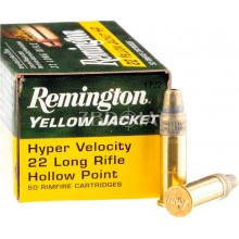Патрон нарезной Remington Yellow Jacket Hyper Velocity кал .22 LR пуля HP маса 33 гр (2.1 г)