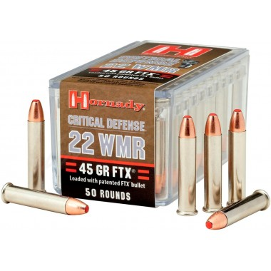 Патрон нарезной Hornady Critical Defense 22WMR FTX 45gr/2,9г (50шт)