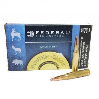 Патрон нарезной Federal Power Shok 7mm Mauser SP 140gr/9.07г (20шт)