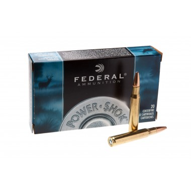 Патрон нарезной Federal Power Shok 30-06 SP 180gr/11.66г (20шт)
