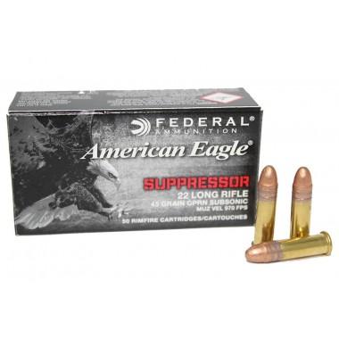 Патрон нарезной Federal American Eagle Supressoropt 22Lr CPRN 45gr/2,92г (50шт)