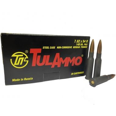 Патрон нарезной Tulammo 7.62x54 R с пулей FMJ