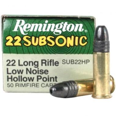 Патрон Remington Subsonic кал .22 LR пуля HP 38 гр 320 мс (2.5 г)