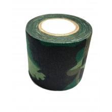 Лента маскировочная клейкая 5х450см Woodland Camo (покрытие хлопок) 02033