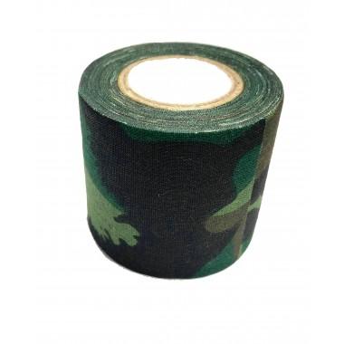 Лента маскировочная 5х450см Woodland Camo (самоклеющаяся)