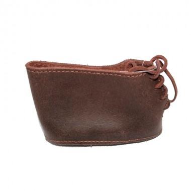 Затыльник-чехол на шнуровке кожаный коричневый