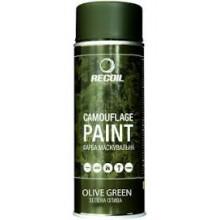 Маскировочная аэрозольная краска Recoil Зеленая Олива 400 мл