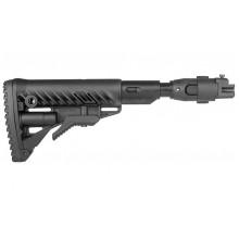 Приклад складний FAB М4 з ароматизатором для  AK 47, полімер, чорний