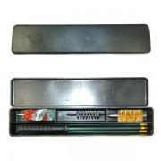 Набор для чистки MegaLine 12 к. в пластмассовой коробке (шомпол алюм., 3 ерша)