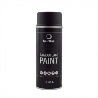 Маскировочная аэрозольная краска Recoil матовая черная 400 мл